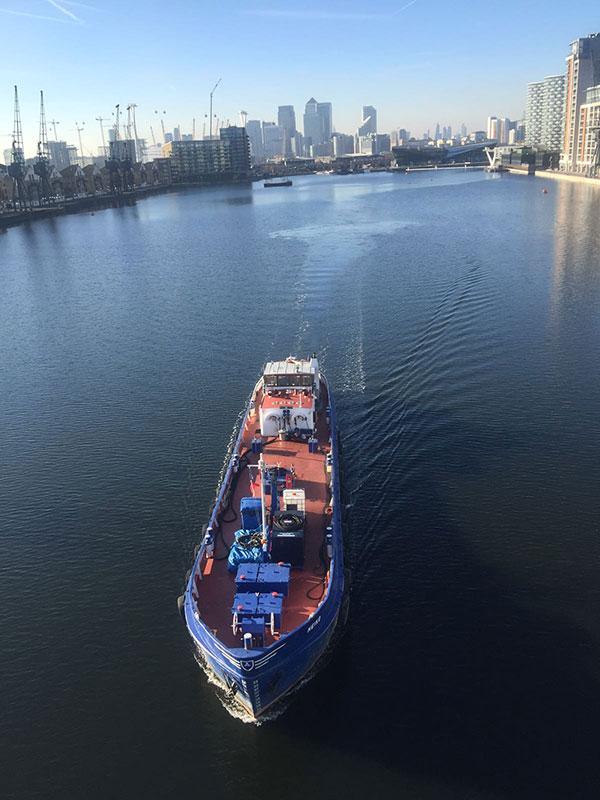 Heiko in Royal Docks - Thames Marine Services
