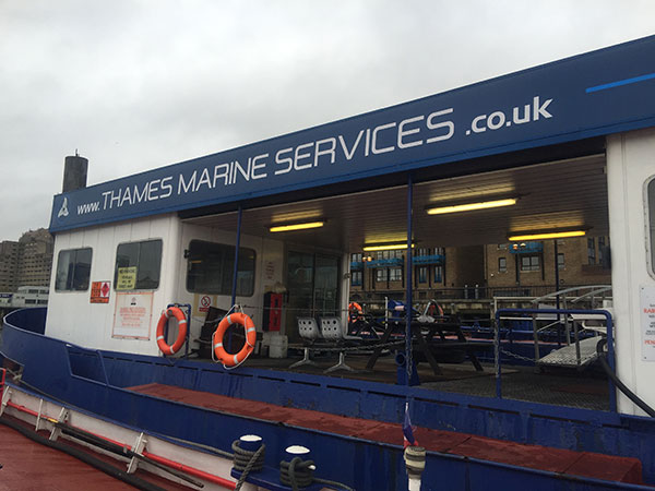 New signage - Thames Marine Services
