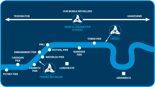 Thames Marine Services - River Thames Map