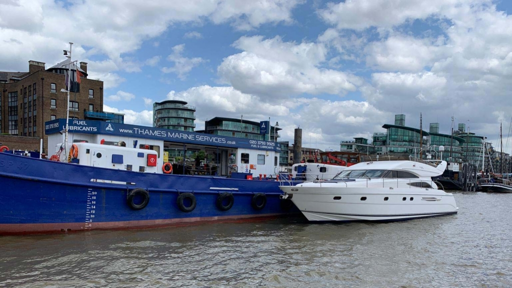 Thames-Marine-Services - Motor yacht at HQ